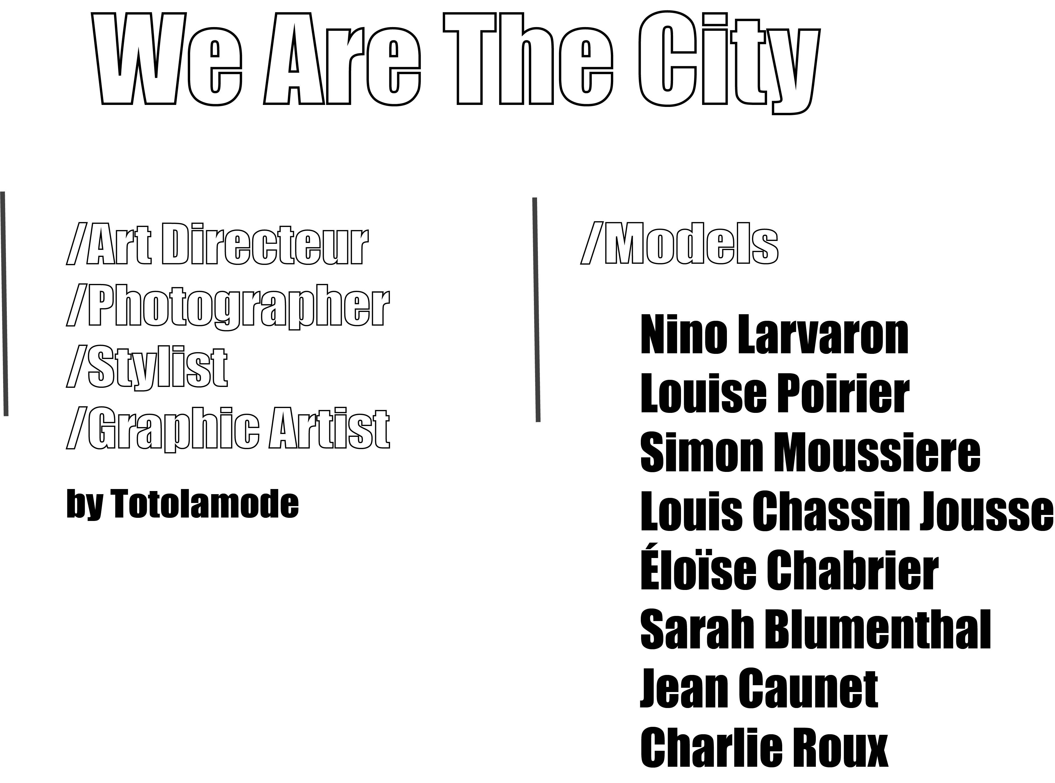 Gang2poche We are the city by Totolamode
